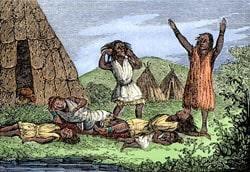 indians contract smallpox