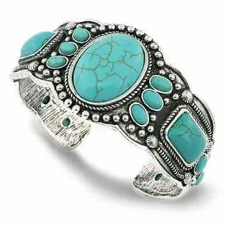 Jianxi women's turquoise bracelet